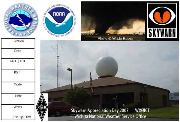 If you worked WX0ICT or a station in Wichita during SRD, we have QSL cards on the way